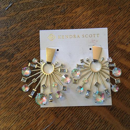 Kendra Scott Crystal Snowflake Earrings