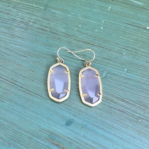 Kendra Scott: Gray Crystal Drop Earrings