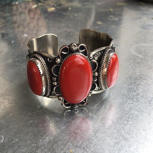Red Howlite Stone Bracelet