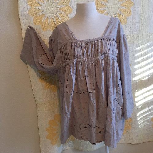 "Magnolia Pearl""Briony"" Pale Blue+Grey Cotton Tunic"