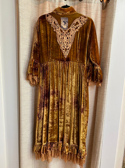 Magnolia Pearl [One-of-a-Kind] Apricot Crushed Velvet Duster