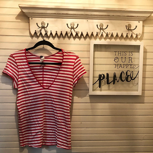 Free People: Red & White Striped Top