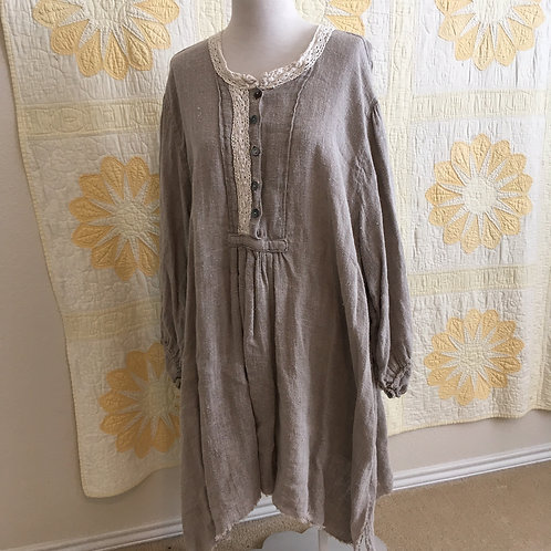 Magnolia Pearl Homespun Linen Tunic Dress