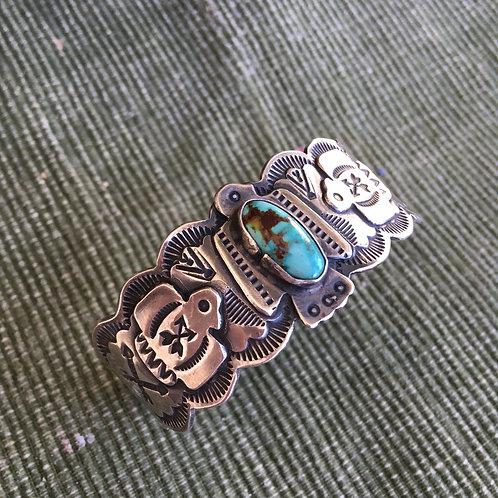 Old Trading Post: Single Stone+Multi-Symbol Bracelet