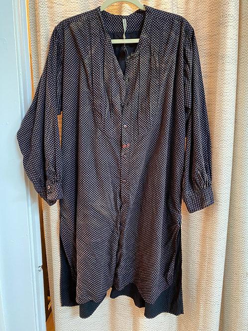 Magnolia Pearl Black+Lavender Polka Dot Dress