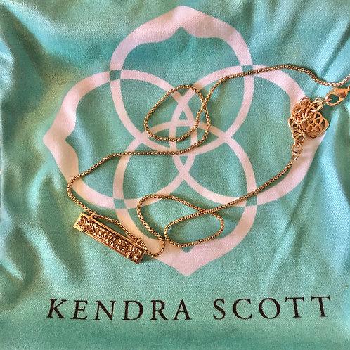 Kendra Scott Rose Gold Druzy Necklace