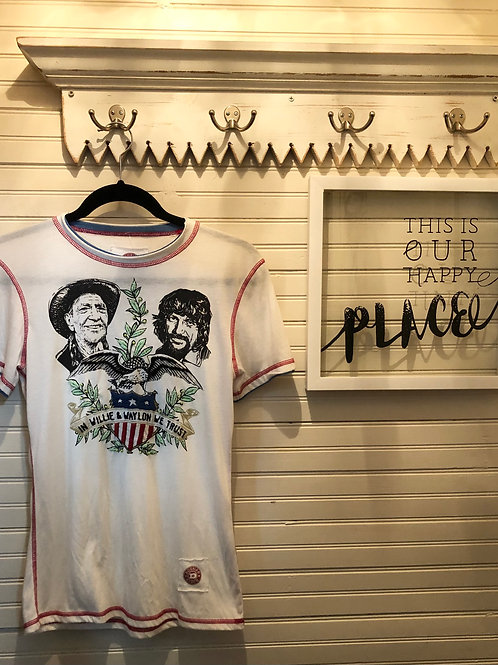 Double D Ranch: 'In Willie and Waylon we Trust' Tee