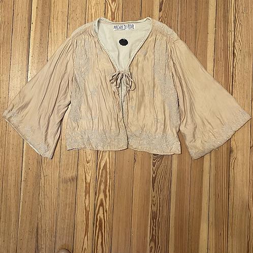 Magnolia Pearl Vintage Embroidered Silk Jacket