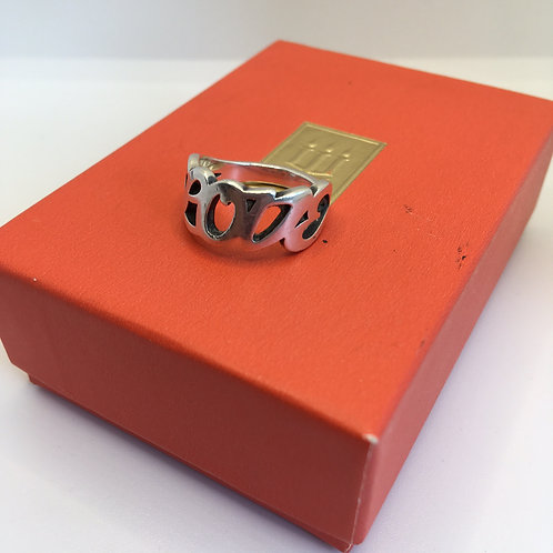 James Avery LOVE Script Ring