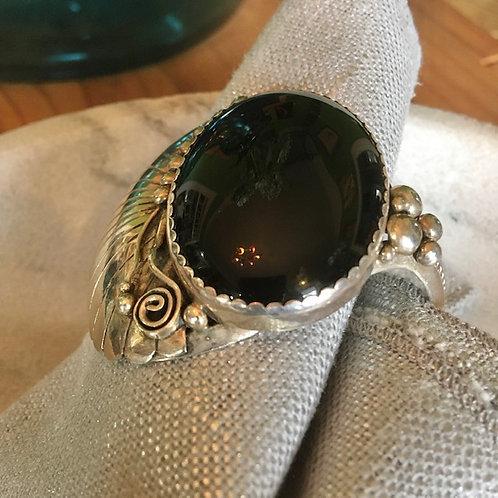 Onyx Navajo Bracelet
