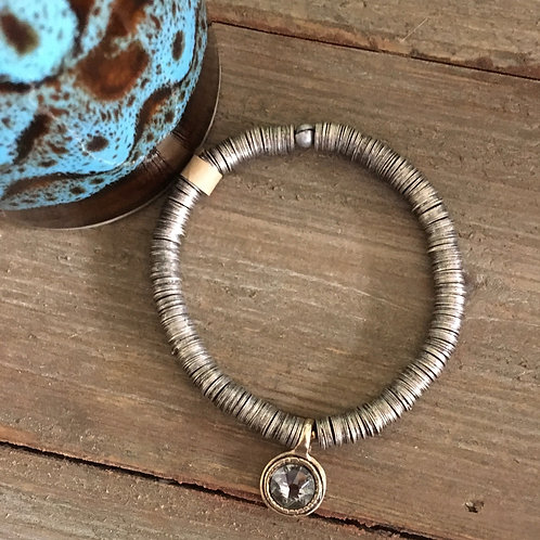Copper Crown Studio Disc+Beaded Bracelet