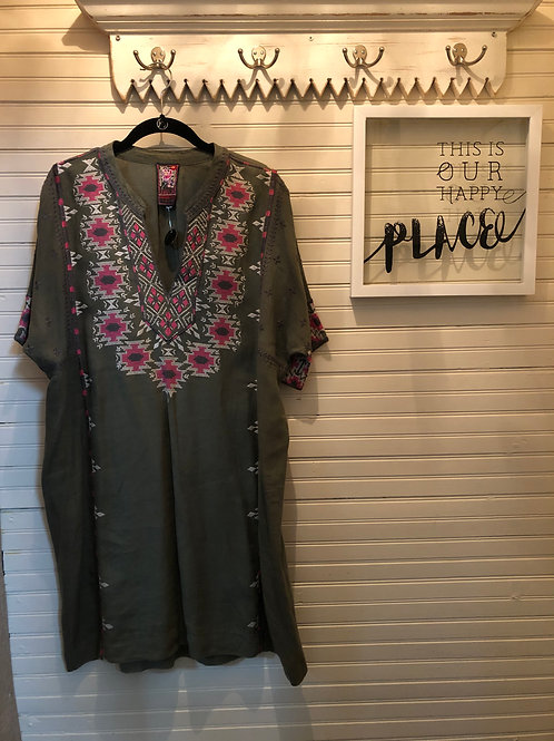 Johnny Was: Olive + Embroidered Dress