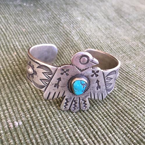 Old Trading Post: Thunderbird+Turquoise Bracelet