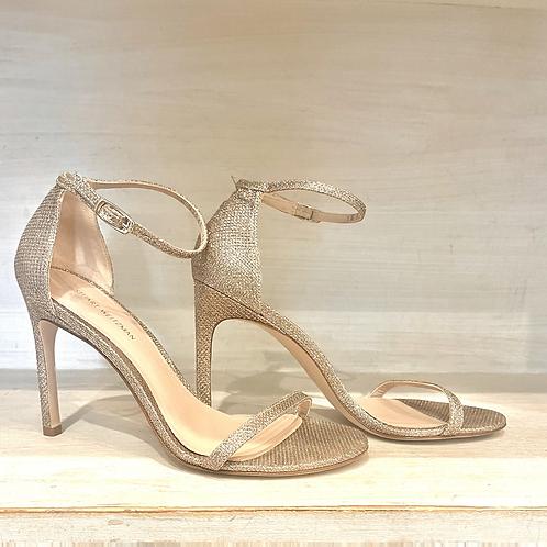 Stuart Weismann Gold Heels Size 7.5