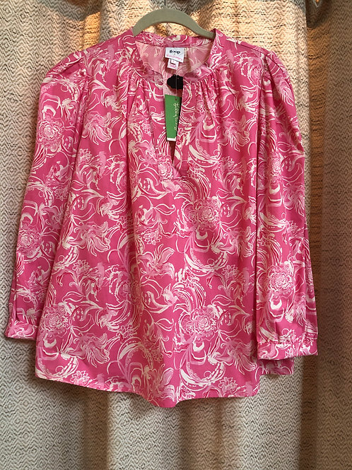 Lilly Pulitzer Pink Floral Blouse