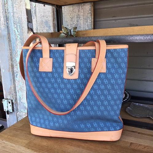 Dooney & Bourke Bag Logo Canvas + Leather