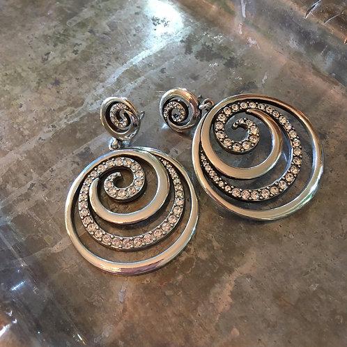 Brighton Silver Swirl Earrings