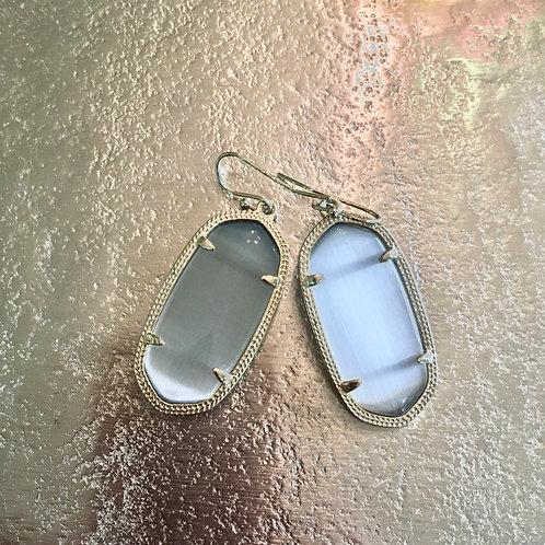 Kendra Scott Iridescent Grey Stone Earrings