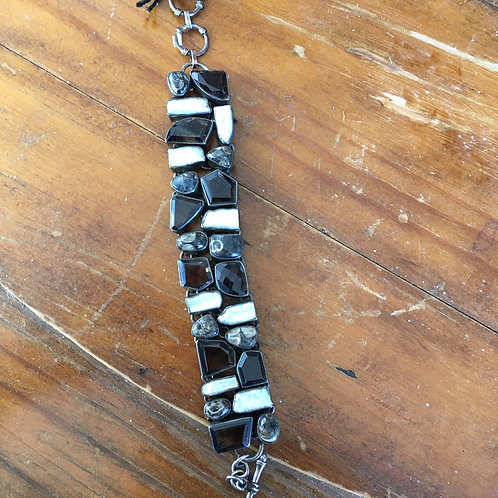 Linked Freshwater Pearl Bracelet