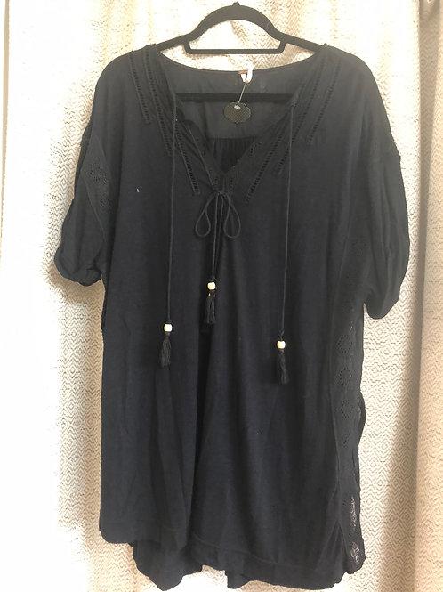 Free People Black Cotton Tunic