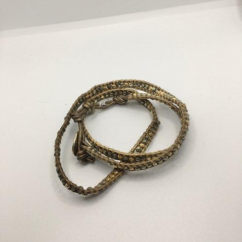 Chan Luu Faceted Bead Wrap Bracelet