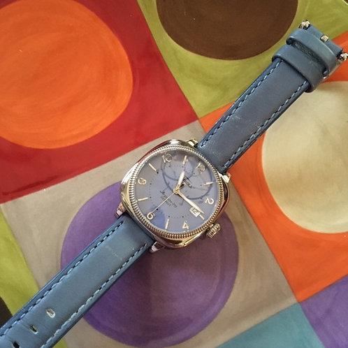 Shinola Argonite 715 Blue Face+Leather Band