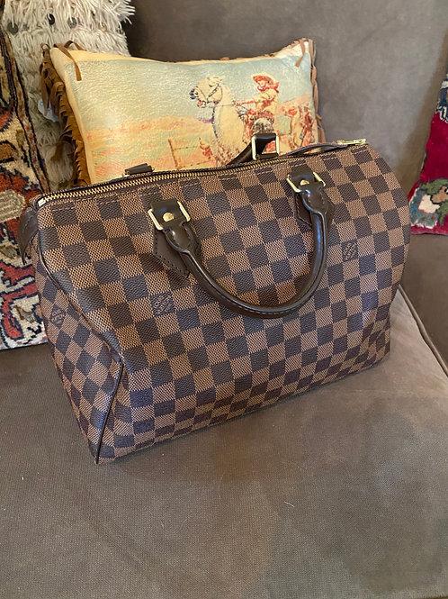 Louis Vuitton Speedy Damier Leather Purse
