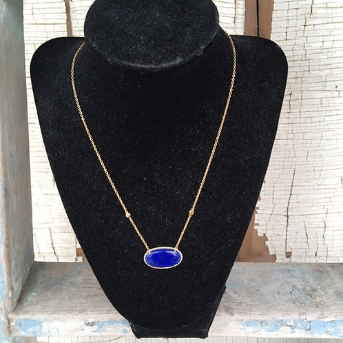 Carol Penn Lapis necklace