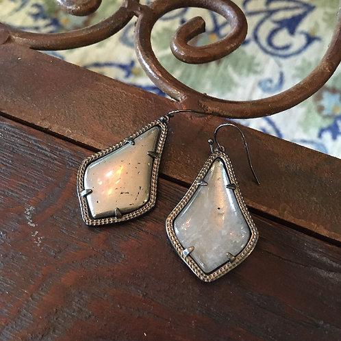 Kendra ScottPewter Grey Triangle Drop Earrings