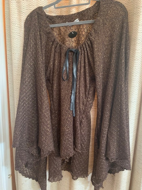 Katharine Story Brown Cotton Mesh Top
