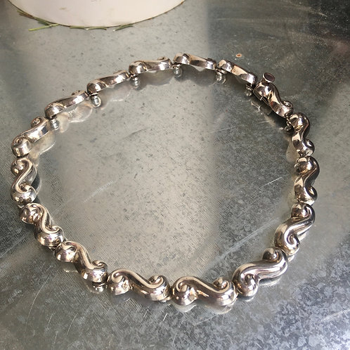Vintage Mexican Silver Necklace
