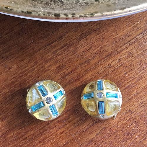 Roxanne Assoulin Glass + Rhinestone Earrings