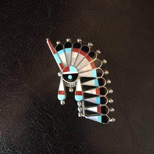 Zuni Sun Face with Headdress