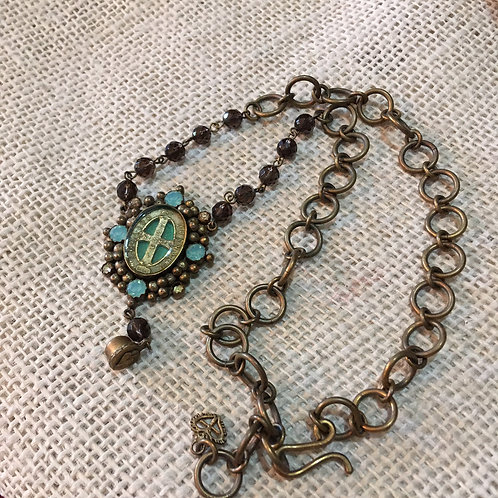 """Virgins, Saints, and Angels """"San Benito"""" Necklace"""