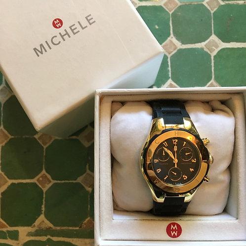 Michelle Black+Gold Watch