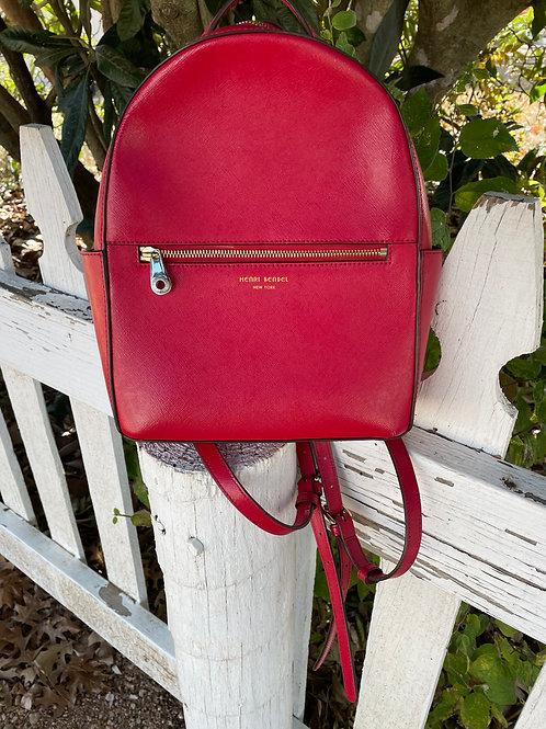 Henri Bendel Red Leather Backpack