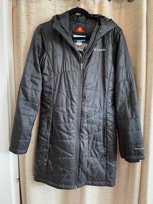 Columbia Long Black Jacket+Hood