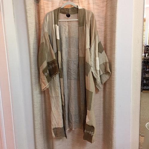 Magnolia Pearl Holland Linen Patchwork Kimono