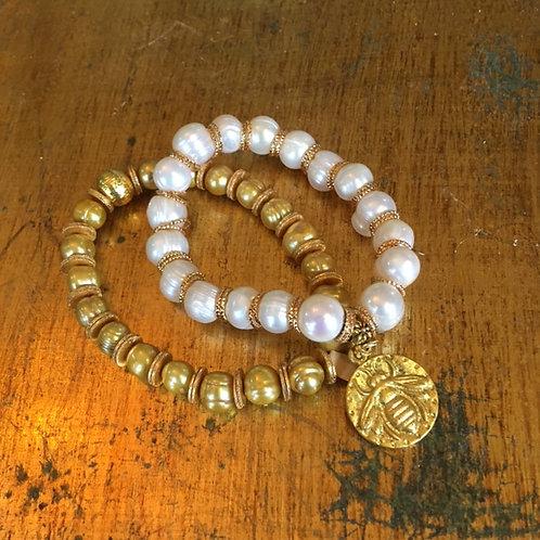 Michael Gabriel: Pearl & Bee Bracelet