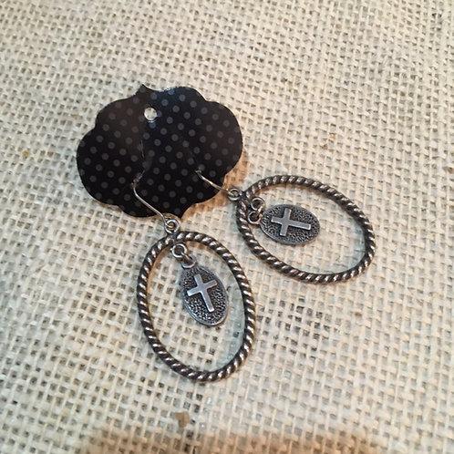Pewter Dangle Earrings
