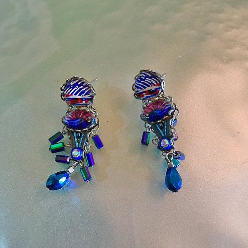 Ayala Bar Blue Irridescent Earrings