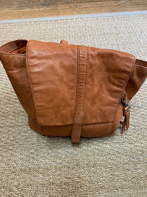 Frye Light Brown Leather Backpack