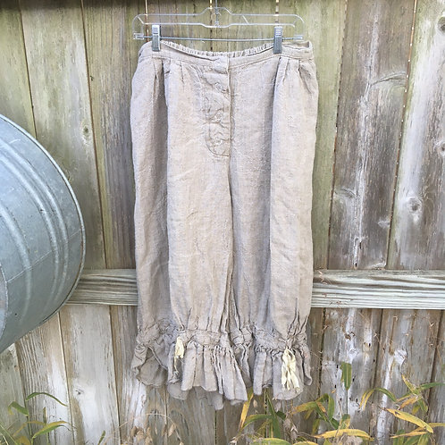 Magnolia Pearl Silk Ribbon Homespun Linen Bloomers