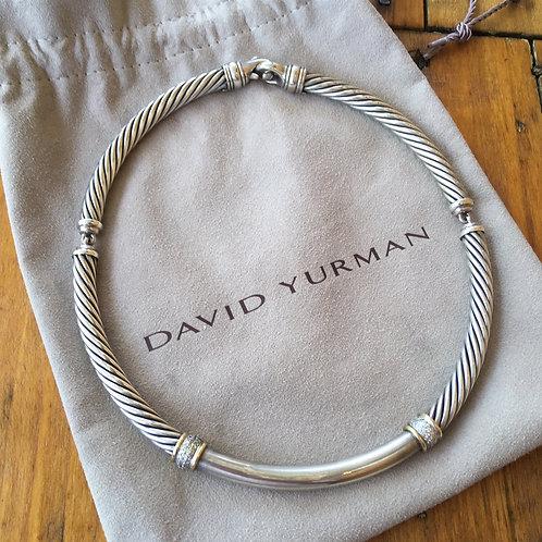 David Yurman Sterling Cable Choker