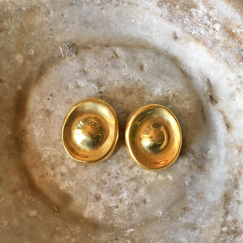 Steven Vaubel 18k Gold Clip Earrings