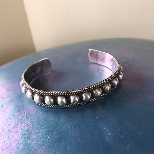 Mexican SilverBead Trim Bracelet
