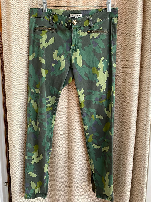 Cabi Green Camo Jeans