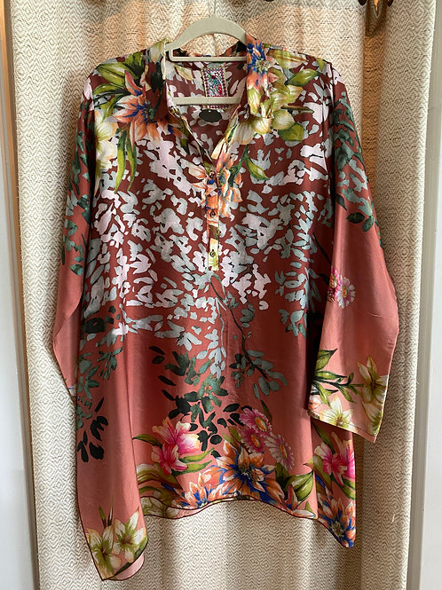 Johnny Was Floral Silk Tunic