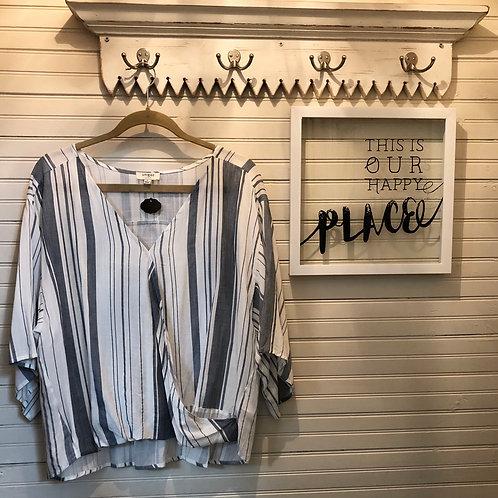 Umgee: Blue & White Striped Top