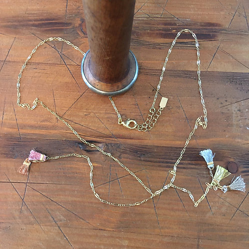 Delicate Lucky Star Gold Chain Lasso-Style Necklace
